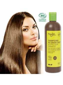 Shampoing au savon d'Alep bio - Cheveux gras, secs, normaux