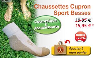 Chaussettes Cupron - Sport Basses