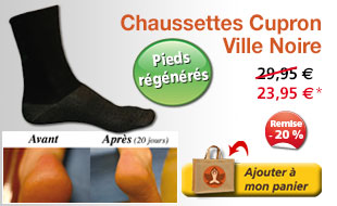 Chaussettes Cupron - Ville Noires